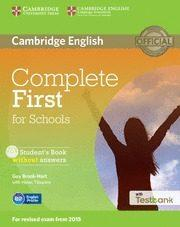 Libro COMPLETE FIRST FOR SCHOOLS STUDENT S BOOK WITHOUT ANSWERS WITH CD-ROM & TESTBANK