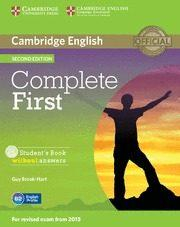 Libro COMPLETE FIRST STUDENT S BOOK WITHOUT ANSWERS WITH CD-ROM 2ND EDITION  ZONA PORTUGAL