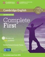 Libro COMPLETE FIRST WORKBOOK WITH ANSWERS WITH AUDIO CD 2ND EDITION