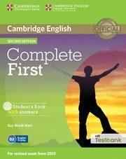 Libro COMPLETE FIRSTSTUDENT S BOOK WITH ANSWERS, CD-ROM & TESTBANK