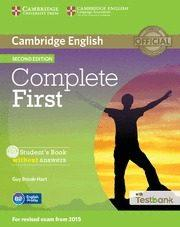 Libro COMPLETE FIRSTSTUDENT S BOOK WITHOUT ANSWERS WITH CD-ROM & TESTBANK