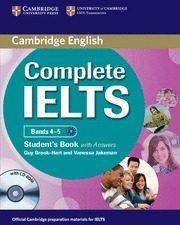 Libro COMPLETE IELTS BANDS 4-5 B1 STUDENT BOOK KEY/CD ROM