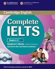Libro COMPLETE IELTS BANDS 4-5 B1 STUDENT/CD ROM