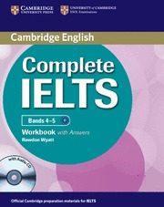 Libro COMPLETE IELTS BANDS 4-5 B1 WORKBOOK KEY/CD