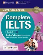 Libro COMPLETE IELTS BANDS 4-5 STUDENT S BOOK WITHOUT ANSWERS WITH CD-ROM & TESTBANK