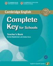 Libro COMPLETE KEY FOR SCHOOLS FOR SPANISH SPEAKERS TEACHERS BOOK