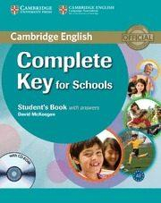 Libro COMPLETE KEY FOR SCHOOLS: STUDENT S BOOK WITH ANSWERS WITH CD-ROM