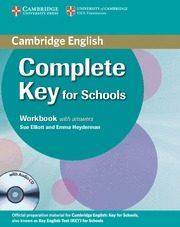 Libro COMPLETE KEY FOR SCHOOLS: WORKBOOK WITH ANSWERS WITH AUDIO CD