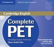 Libro COMPLETE PET FOR SPANISH SPEAKERS. CLASS AUDIO CD S