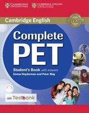 Libro COMPLETE PET STUDENT S BOOK WITH ANSWERS, CD-ROM & TESTBANK