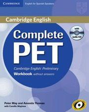 Libro COMPLETE PET WORKBOOK WITHOUT ANSWERS WITH AUDIO CD