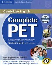 Libro COMPLETE PET: STUDENT S BOOK WITH ANSWERS WITH CD-ROM