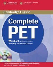 Libro COMPLETE PET: WORKBOOK WITHOUT ANSWERS WITH AUDIO CD