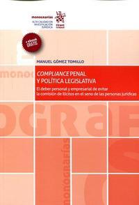 Libro COMPLIANCE PENAL Y POLITICA LEGISLATIVA