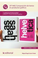 Libro COMPOSICIÓN DE TEXTOS EN PRODUCTOS GRÁFICOS. UF1460 - DISEÑO DE PRODUCTOS GRÁFICOS