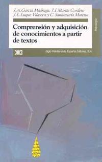 Libro COMPRENSION Y ADQUISICION DE CONOCIMIENTOS A PARTIR DE TEXTOS