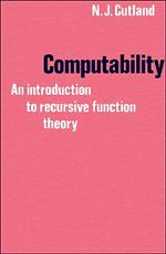 Libro COMPUTABILITY: AN INTRODUCTION TO RECURSIVE FUNCTION THEORY