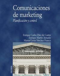 Libro COMUNICACIONES DE MARKETING. PLANIFICACION Y CONTROL
