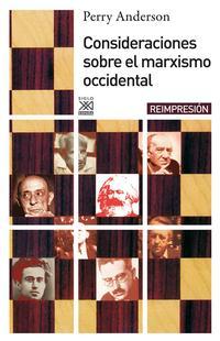 Libro CONSIDERACIONES SOBRE EL MARXISMO OCCIDENTAL