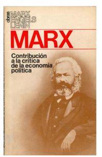Libro CONTRIBUCION A LA CRITICA DE LA ECONOMIA POLITICA