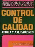 Libro CONTROL DE CALIDAD: TEORIA Y APLICACIONES