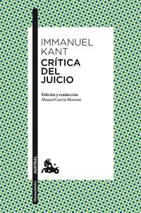 Libro CRITICA DE JUICIO