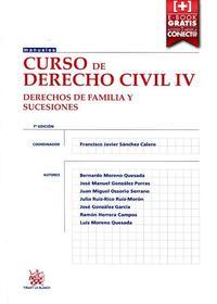 Libro CURSO DE DERECHO CIVIL IV DERECHO DE FAMILIA Y SUCESION