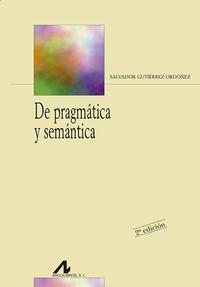 Libro DE PRAGMATICA Y SEMANTICA