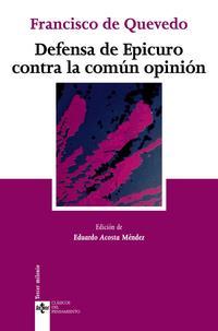 Libro DEFENSA DE EPICURO CONTRA LA COMUN OPINION