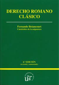 Libro DERECHO ROMANO CLASICO