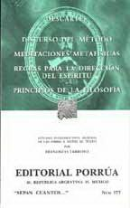 Libro DISCURSO DEL METODO ; MEDITACIONES METAFISICAS ; REGLAS PARA LA D IRECCION DEL ESPIRITU ; PRINCIPIOS DE LA FILOSOFIA