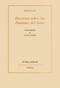 Libro DISCURSO SOBRE LAS PASIONES DEL AMOR