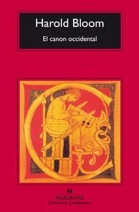 Libro EL CANON OCCIDENTAL: LA ESCUELA Y LOS LIBROS DE TODAS LAS EPOCAS