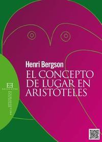 Libro EL CONCEPTO DE LUGAR EN ARISTOTELES
