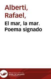 Libro EL MAR, LA MAR