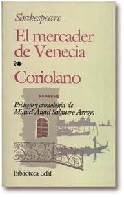 Libro EL MERCADER DE VENECIA; CORIOLANO