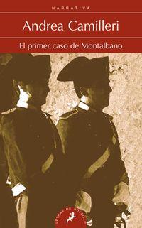 Libro EL PRIMER CASO DE MONTALBANO