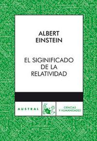 Libro EL SIGNIFICADO DE LA RELATIVIDAD