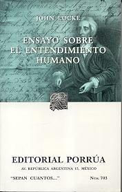 Libro ENSAYO SOBRE EL ENTENDIMIENTO HUMANO