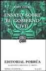 Libro ENSAYO SOBRE EL GOBIERNO CIVIL