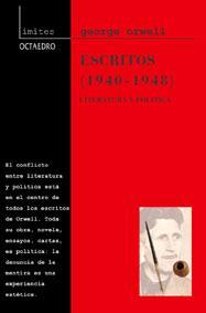 Libro ESCRITOS: LITERATURA Y POLITICA