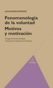 Libro FENOMENOLOGIA DE LA VOLUNTAD