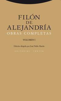 Libro FILON DE ALEJANDRIA: OBRAS COMPLETAS