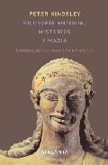 Libro FILOSOFIA ANTIGUA, MISTERIOS Y MAGIA