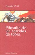 Libro FILOSOFIA DE LAS CORRIDAS DE TOROS