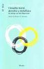 Libro FILOSOFIA MORAL, DERECHO Y METAFISICA: UN DIALOGO CON AXEL HAGERS TROM