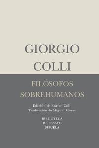 Libro FILOSOFOS SOBREHUMANOS