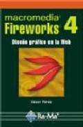 Libro FIREWORKS 4: DISEÑO GRAFICO EN LA WEB