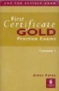 Libro FIRST CERTIFICATE GOLD. 2 CASSETTES PRACTICE EXAMS