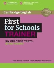 Libro FIRST FOR SCHOOLS TRAINER